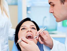 Визуальный осмотр при посещении стоматолога