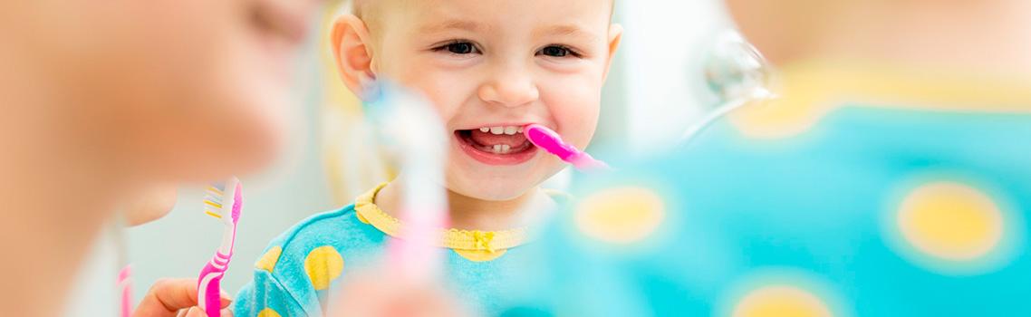 Правила чистки детских зубов
